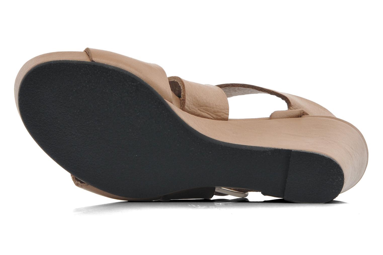 Sandales et nu-pieds Avril Gau Leli Beige vue haut