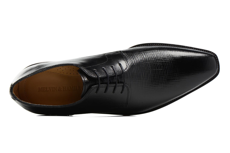 Zapatos con cordones Melvin & Hamilton Alex 1 Negro vista lateral izquierda