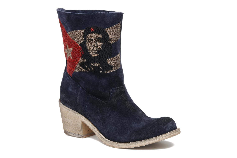Ankle boots Coco et abricot Ché Blue detailed view/ Pair view