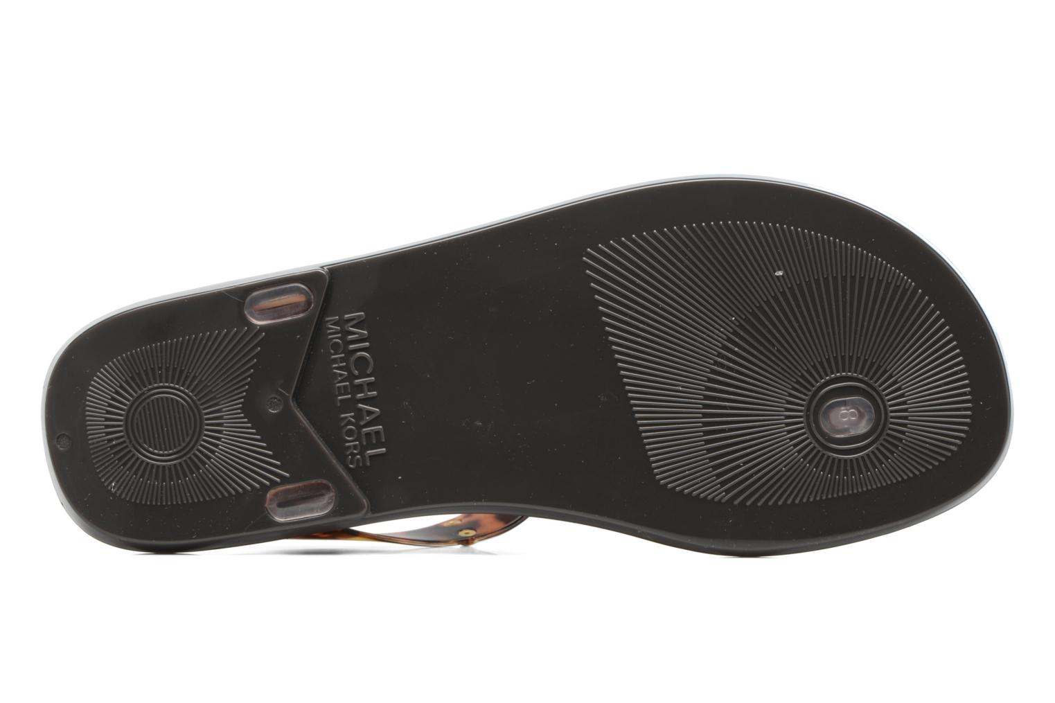 Sandals Michael Michael Kors MK Plate Jelly Brown view from above