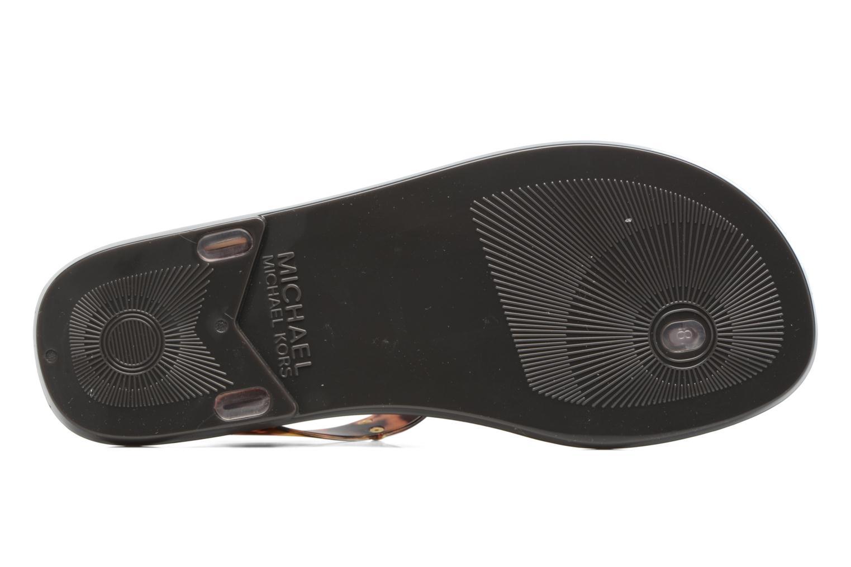 Sandali e scarpe aperte Michael Michael Kors MK Plate Jelly Marrone immagine dall'alto