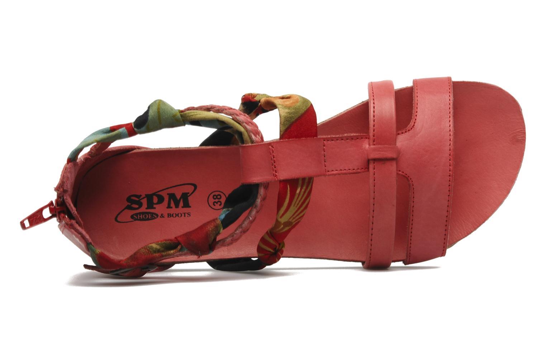 Sandalen SPM PANEMA rot ansicht von links