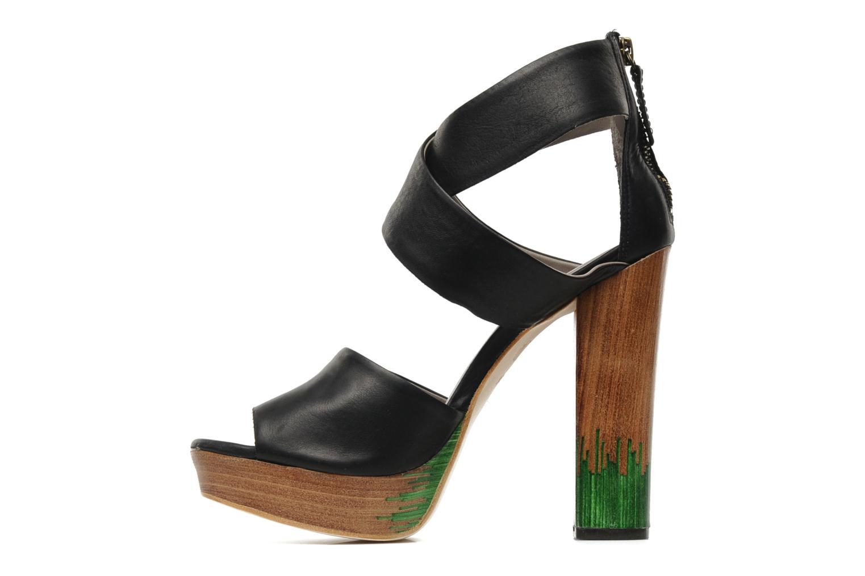 Sandals Skin by Finsk LERMAPE Black front view