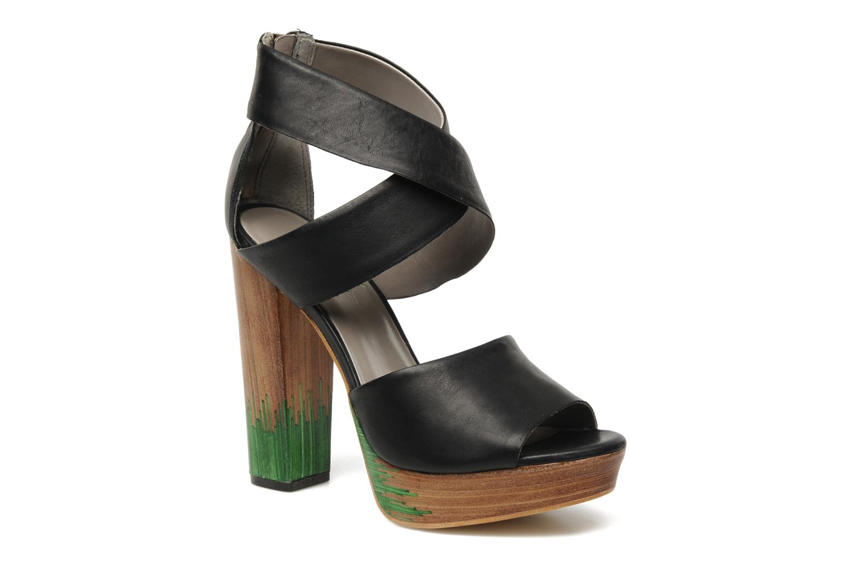 Sandales et nu-pieds Skin by Finsk LERMAPE Noir vue détail/paire