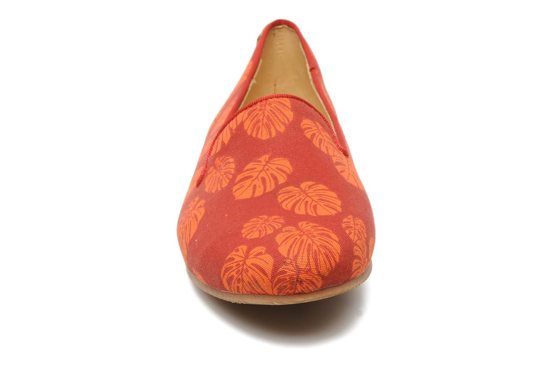 Mocassins Flipflop Coffee Leaf Rouge vue portées chaussures