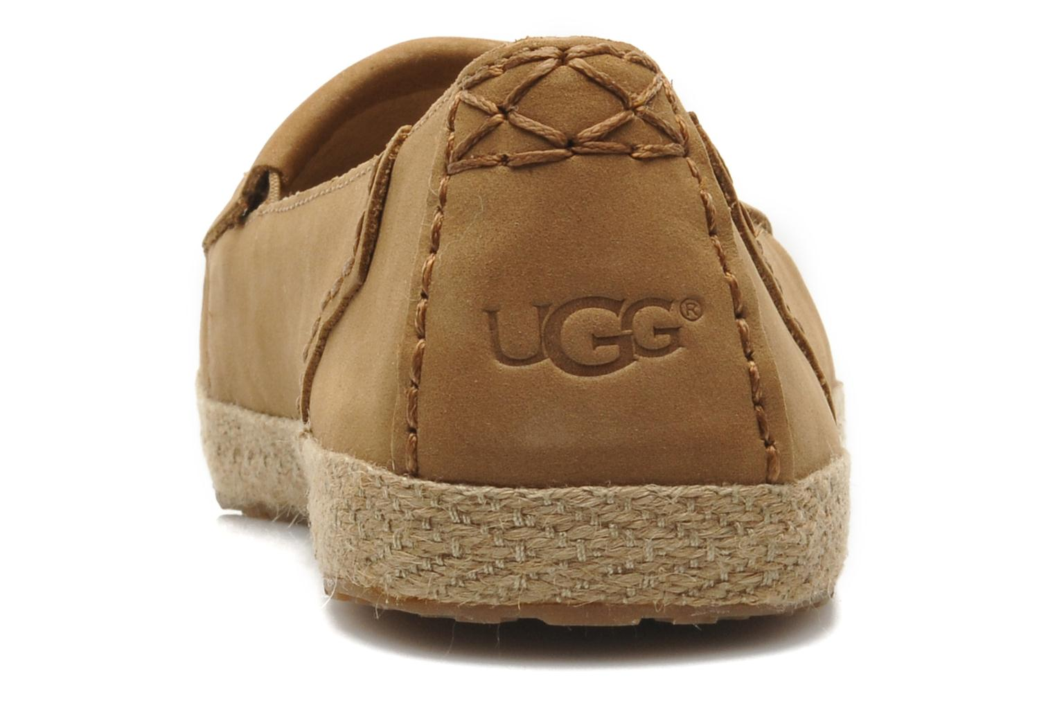 Loafers UGG Marrah Brown view from the right
