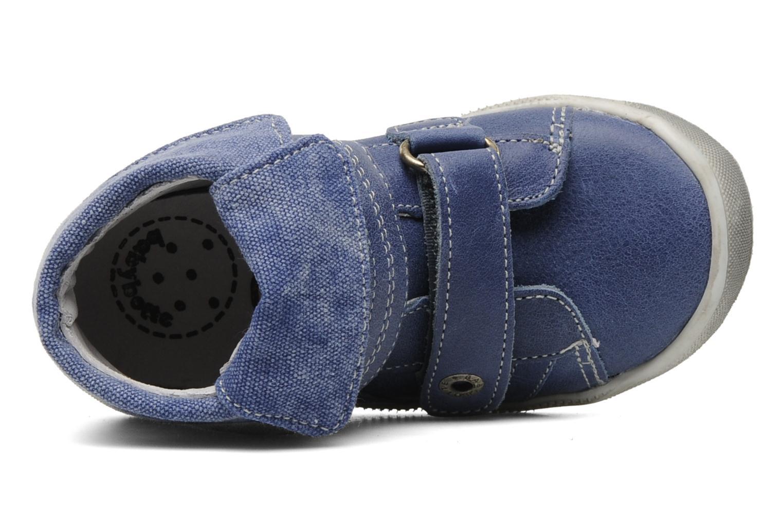 Zapatos con velcro Babybotte Actor Azul vista lateral izquierda