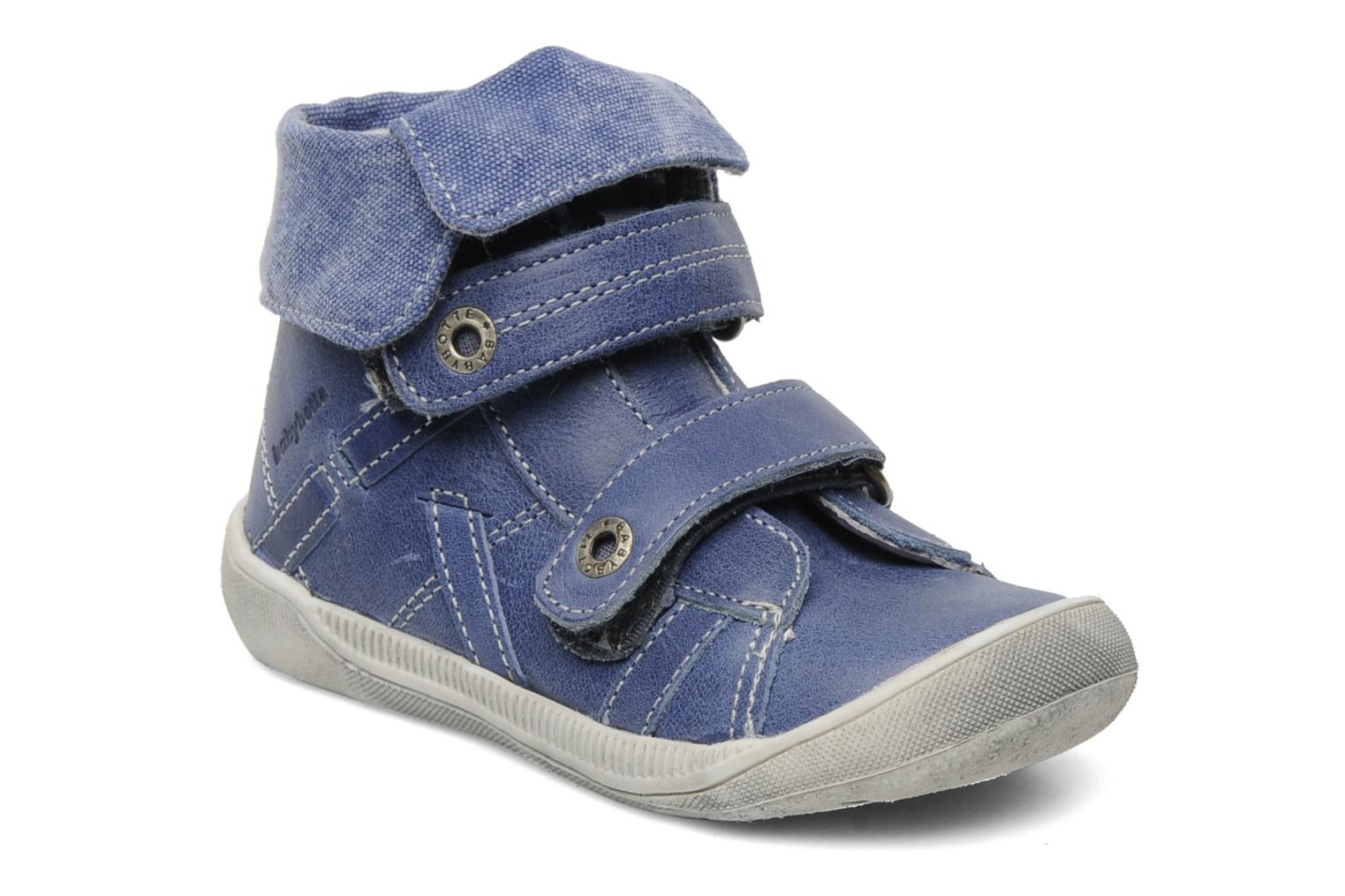 Velcro shoes Babybotte Actor Blue detailed view/ Pair view