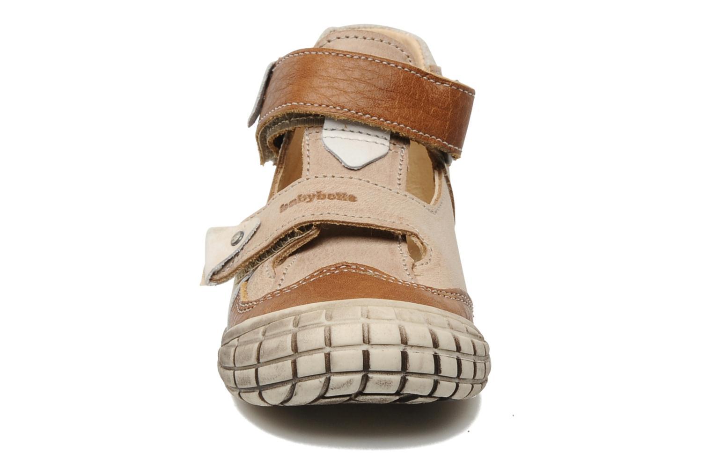Velcro shoes Babybotte Shamalo Brown model view