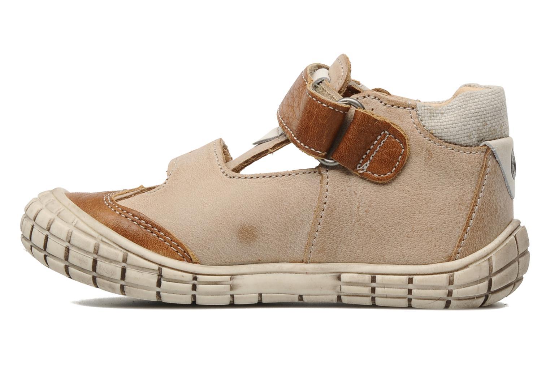 Chaussures à scratch Babybotte Shamalo Marron vue face