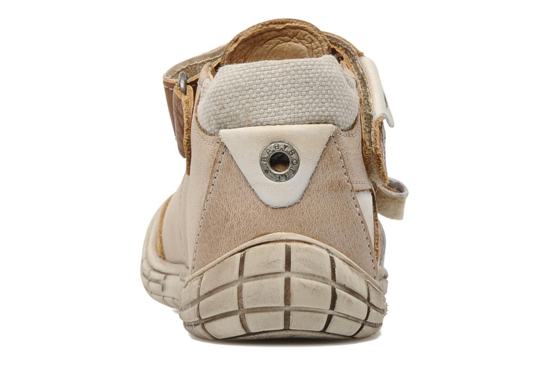Chaussures à scratch Babybotte Shamalo Marron vue droite