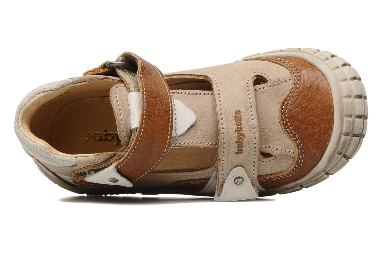 Chaussures à scratch Babybotte Shamalo Marron vue gauche