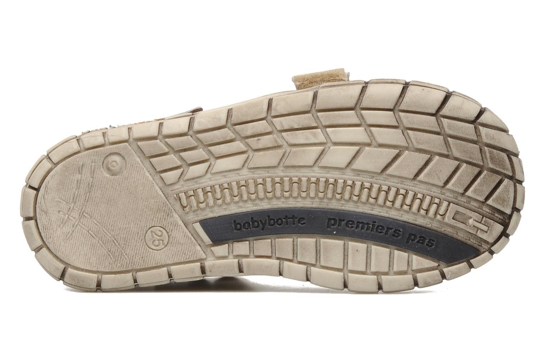Chaussures à scratch Babybotte Shamalo Marron vue haut
