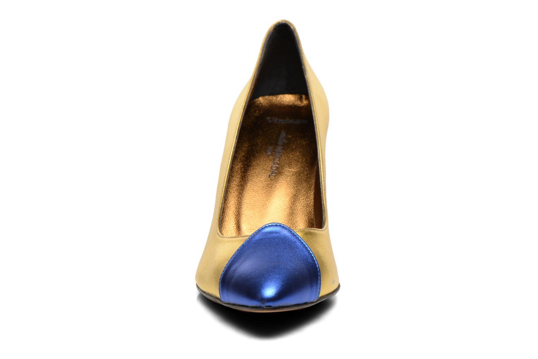 Zapatos de tacón Atelier Mercadal Vanina Oro y bronce vista del modelo