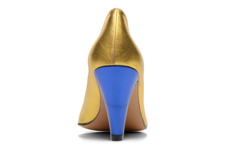 Zapatos de tacón Atelier Mercadal Vanina Oro y bronce vista lateral derecha