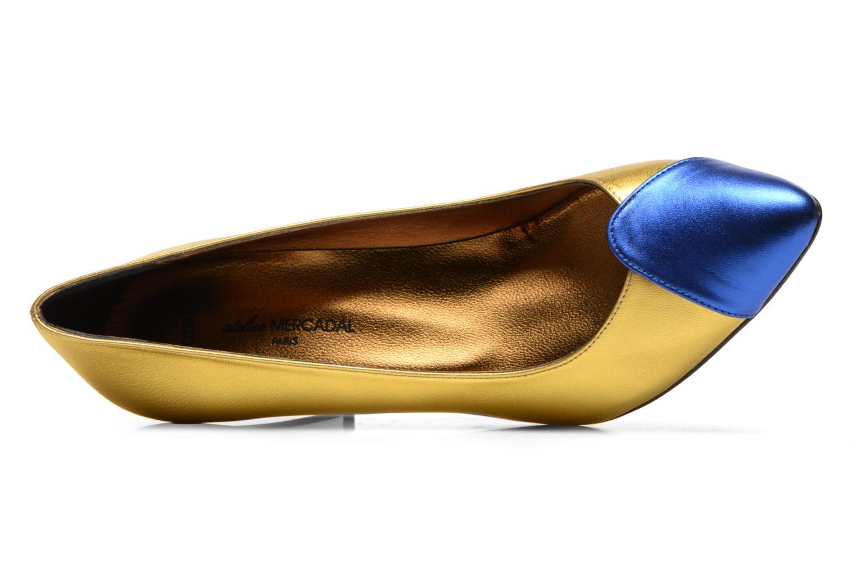 Vanina oro + azul electrico
