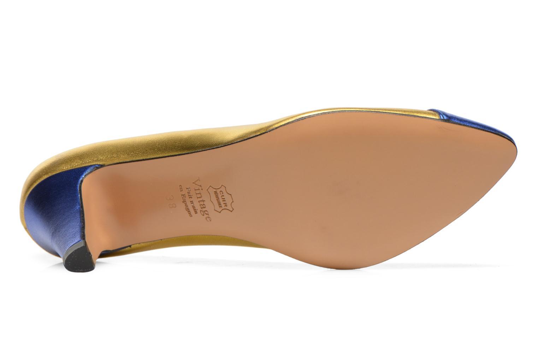 Zapatos de tacón Atelier Mercadal Vanina Oro y bronce vista de arriba