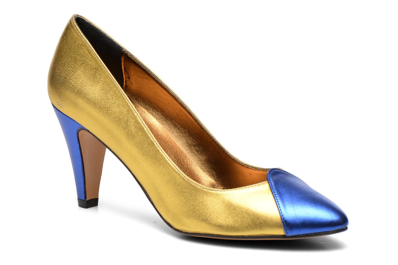 Zapatos de tacón Atelier Mercadal Vanina Oro y bronce vista de detalle / par
