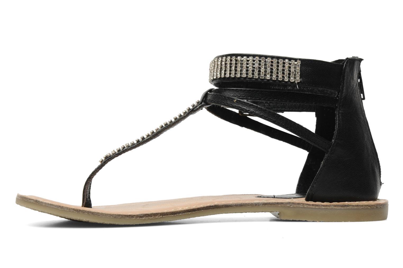 Sandales et nu-pieds Lulu Castagnette Lc Etinol Noir vue face
