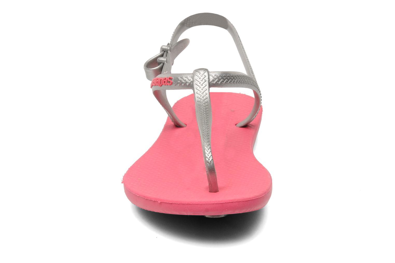 Sandales et nu-pieds Havaianas Havaianas Freedom Gris vue portées chaussures