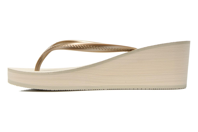 Slippers Havaianas High Fashion Goud en brons voorkant