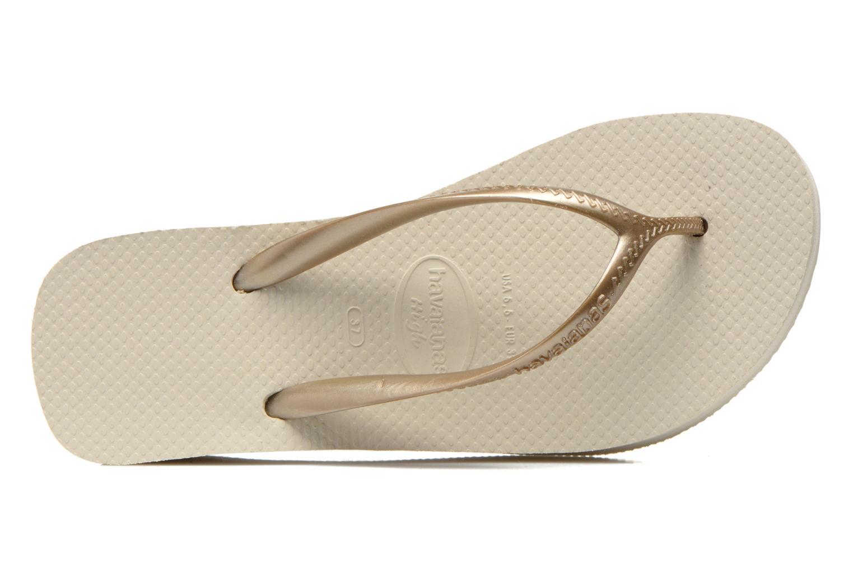 Slippers Havaianas High Fashion Goud en brons links