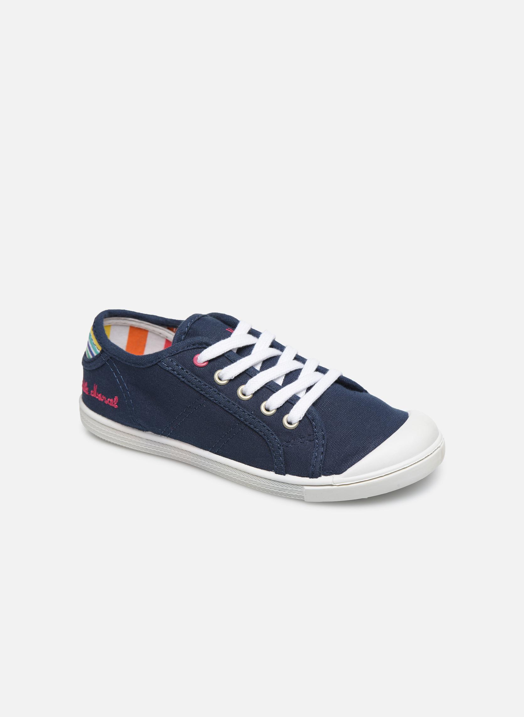 Sneakers Little Marcel Benilace Uni J Blauw detail