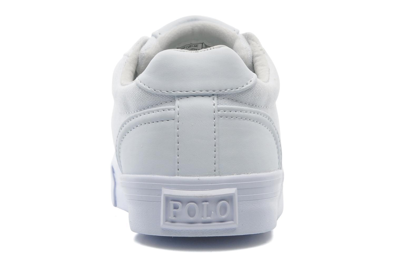 Sneakers Polo Ralph Lauren Hanford canvas Wit rechts