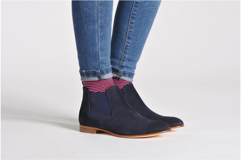 Stiefeletten & Boots Georgia Rose Parva schwarz ansicht von unten / tasche getragen