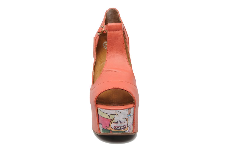 Sandalen Jeffrey Campbell Foxy - Cartoon Heel orange schuhe getragen