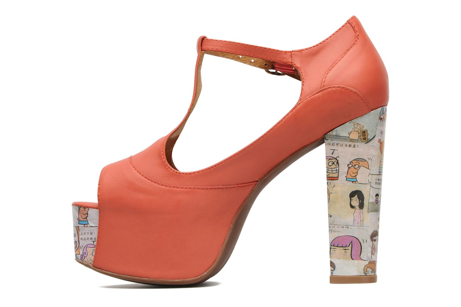 Sandalias Jeffrey Campbell Foxy - Cartoon Heel Naranja vista de frente