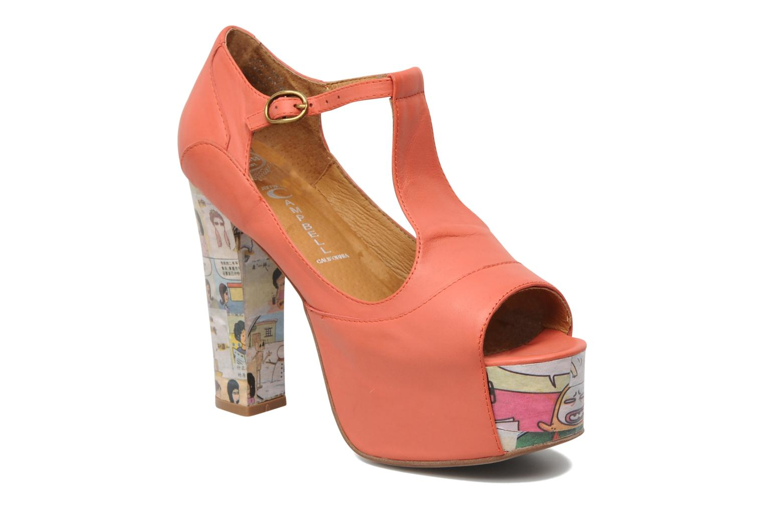 Sandaler Jeffrey Campbell Foxy - Cartoon Heel Orange detaljeret billede af skoene