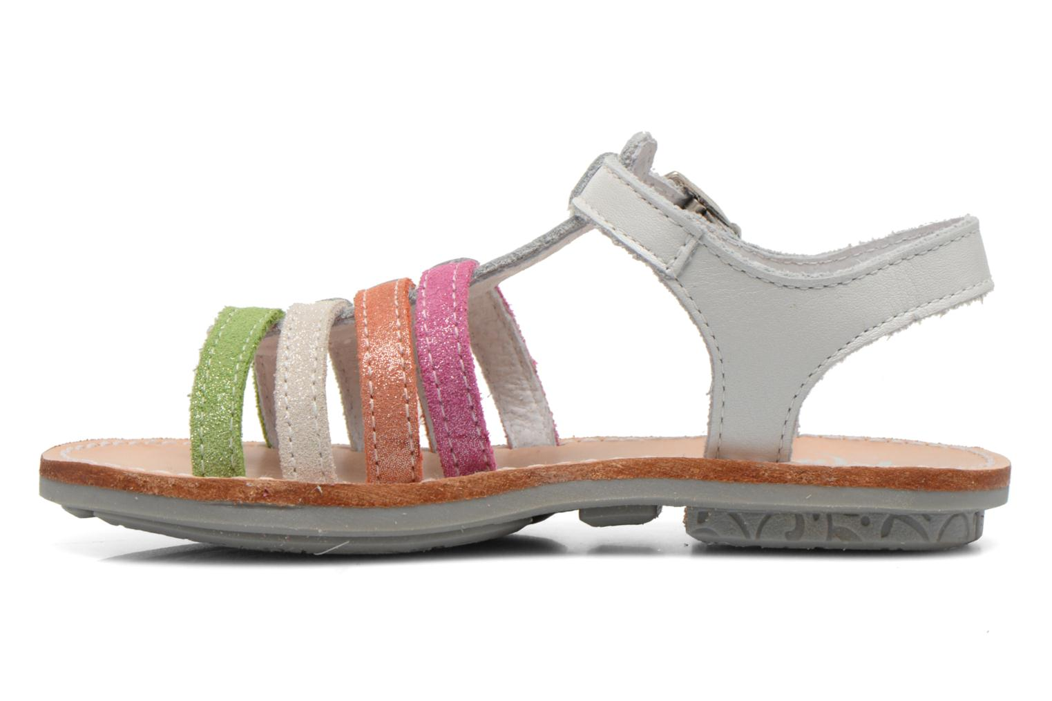 Sandals Minibel Chana White front view
