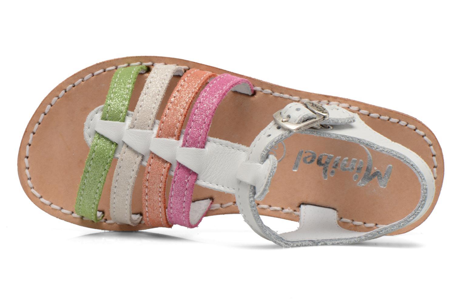 Sandalen Minibel Chana Wit links