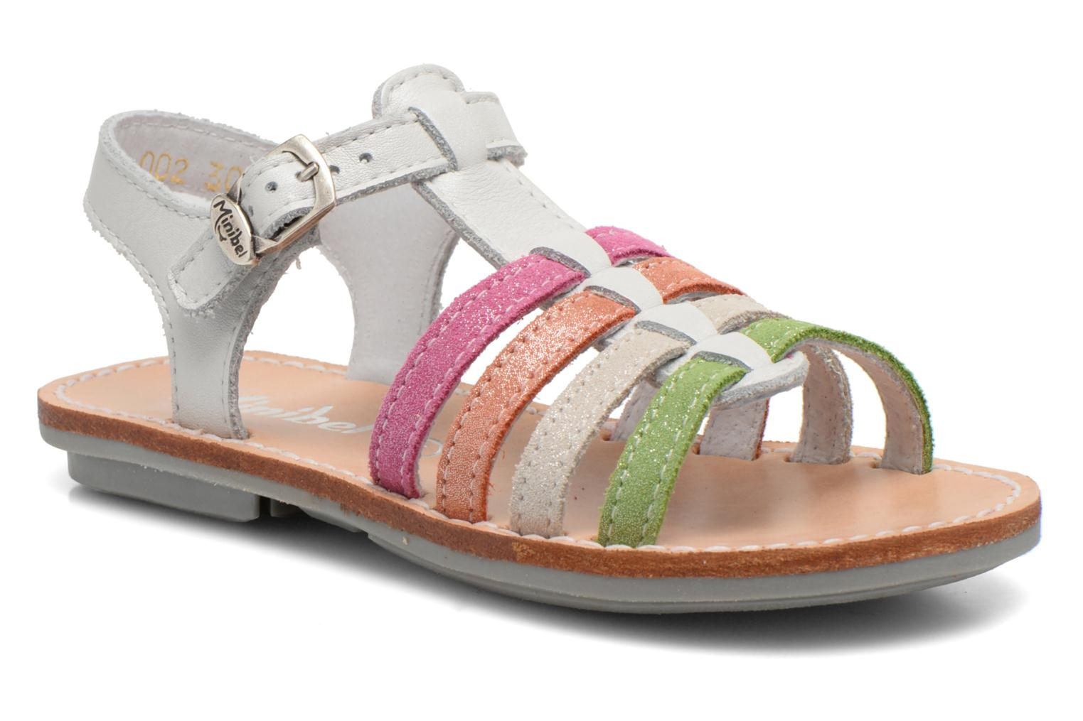 Sandals Minibel Chana White detailed view/ Pair view