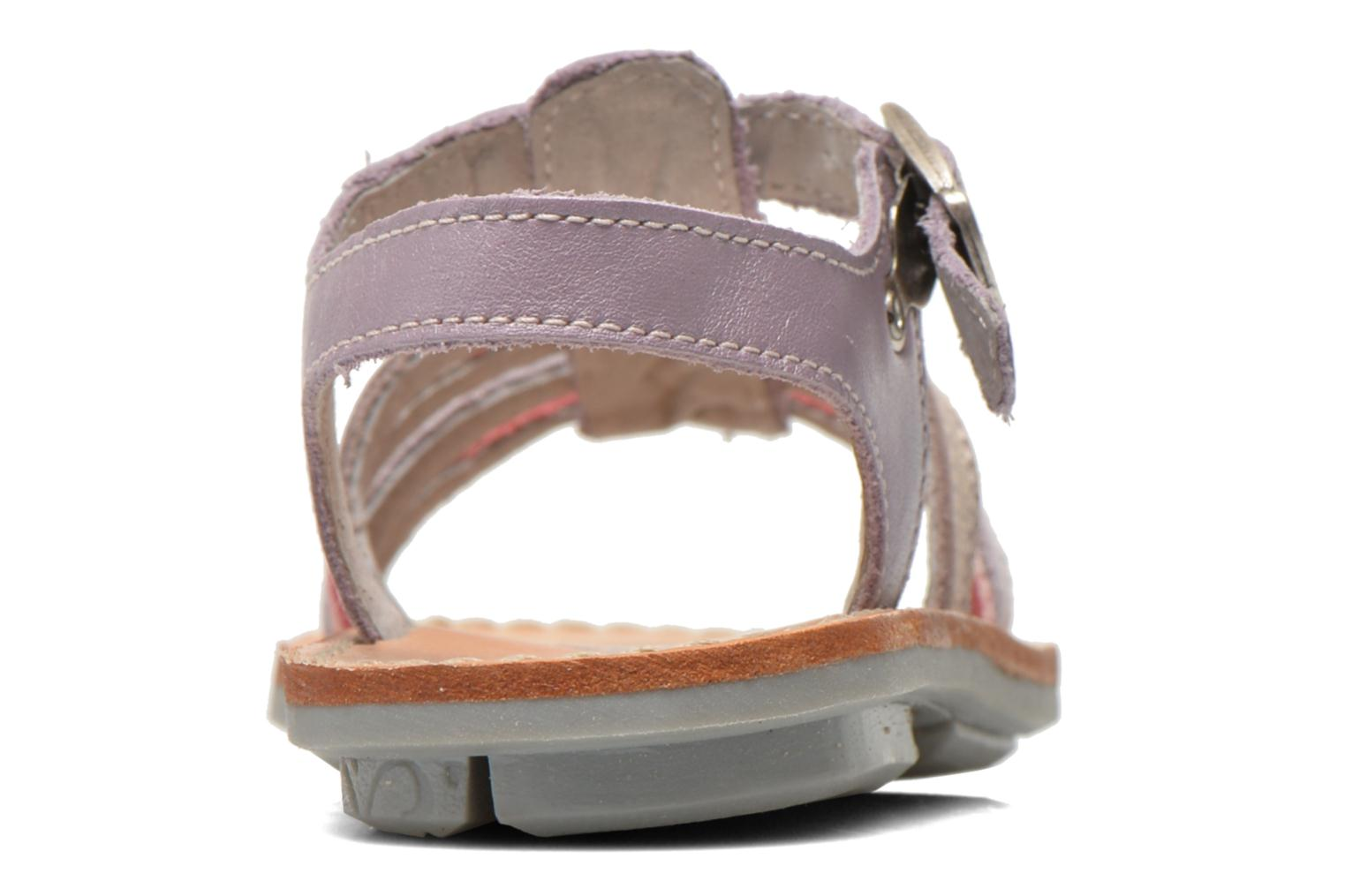 Sandals Minibel Chana Purple view from the right