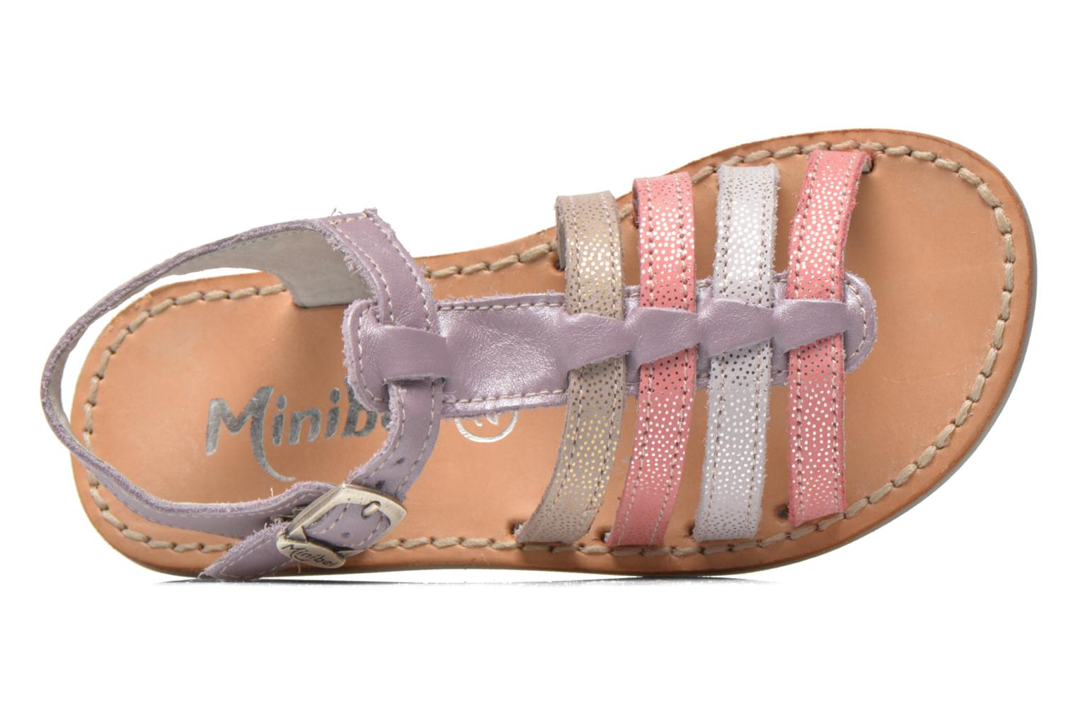 Sandals Minibel Chana Purple view from the left