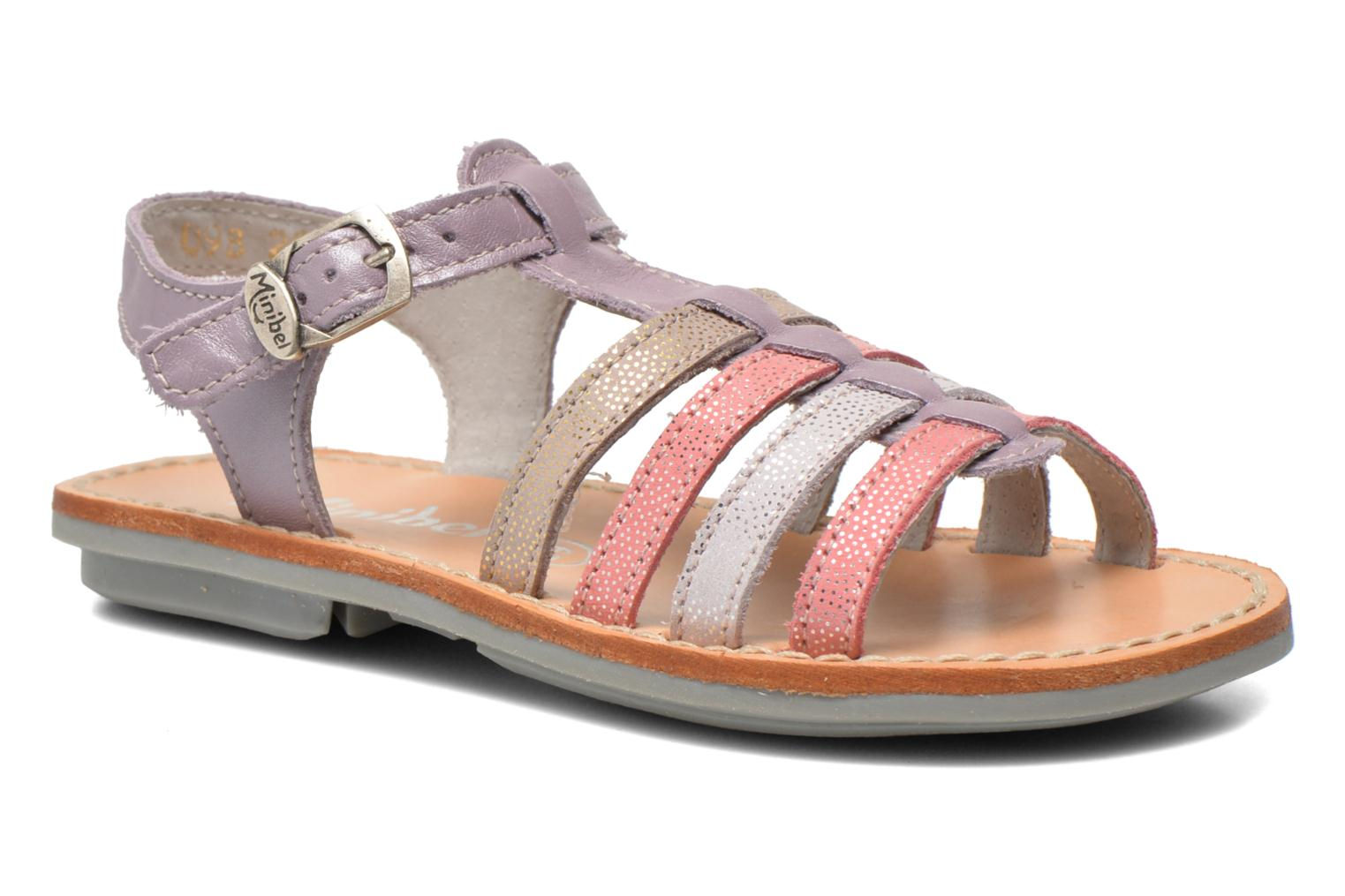 Sandals Minibel Chana Purple detailed view/ Pair view