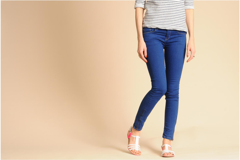 Sandalen I Love Shoes Summer weiß ansicht von unten / tasche getragen