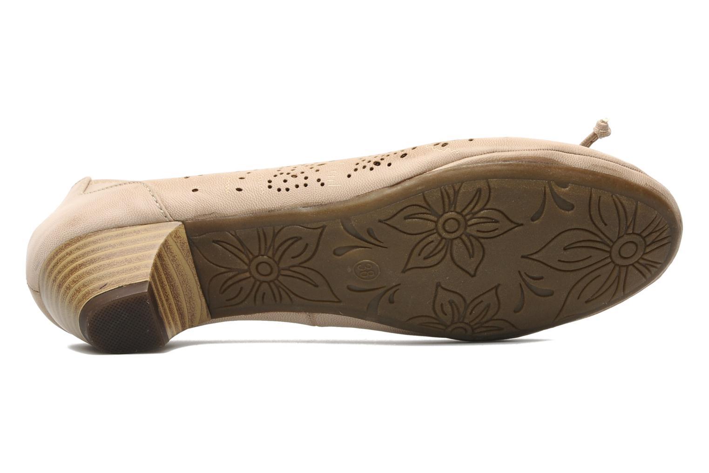 Escarpins I Love Shoes Sultana Beige vue haut
