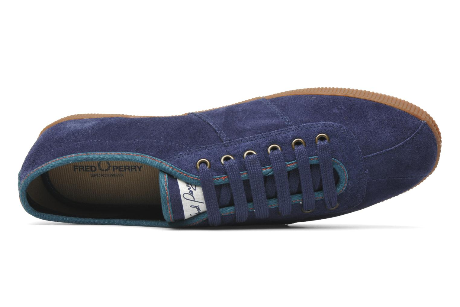 Sneaker Fred Perry HAYES UNLINED SUEDE blau ansicht von links