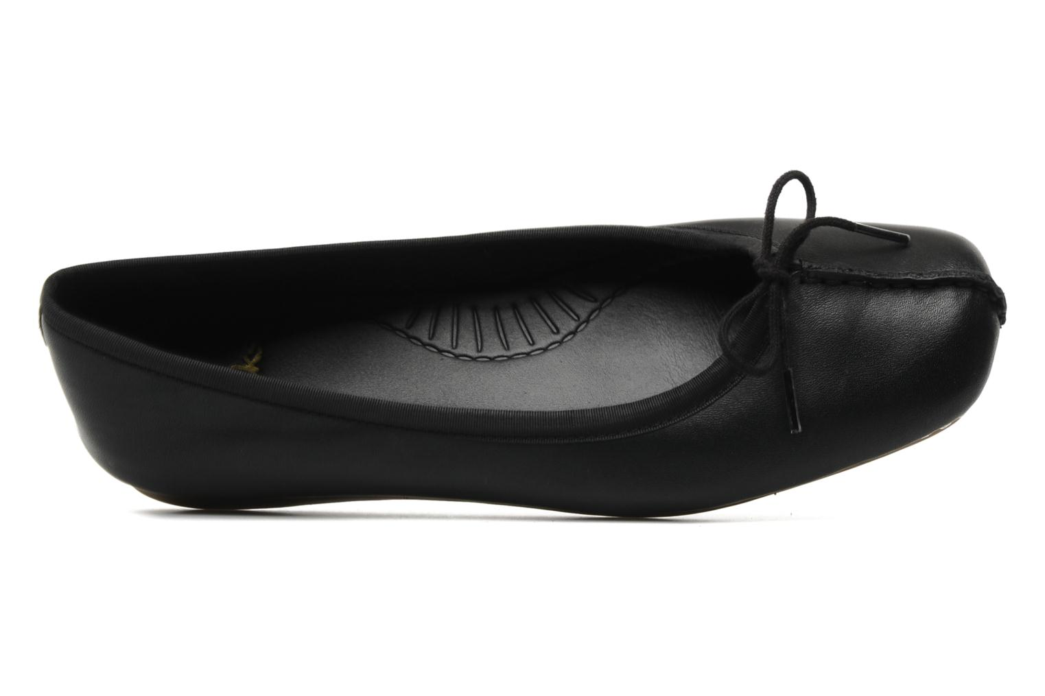 Ballet pumps Clarks Unstructured Freckle Ice Black view from the left