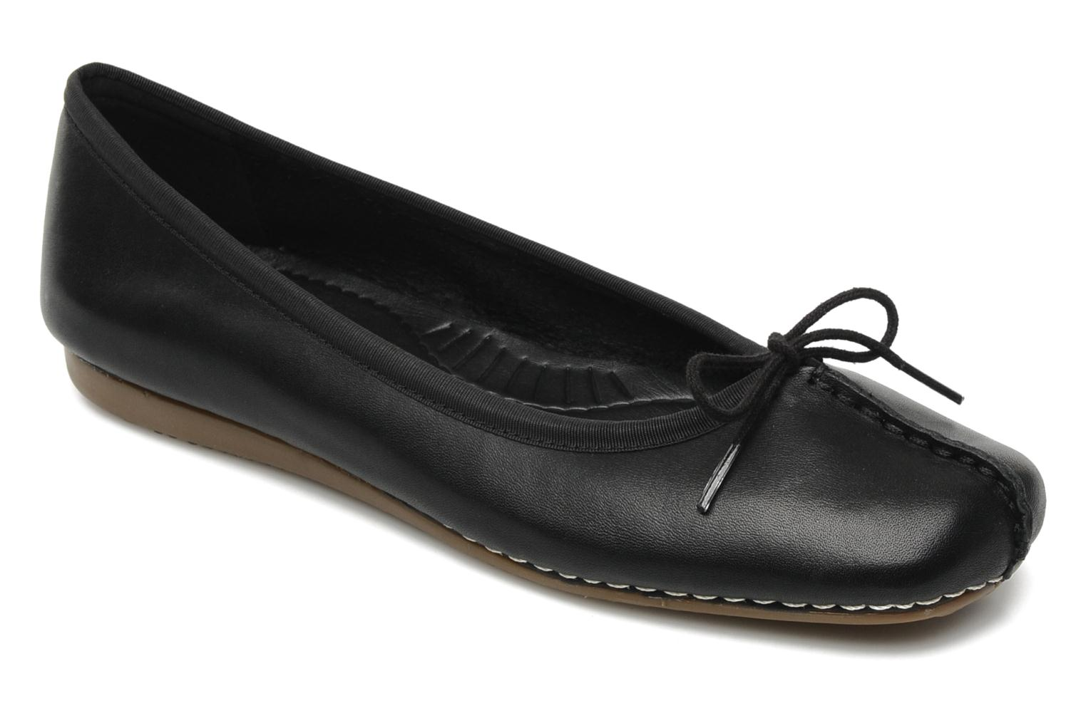 Ballet pumps Clarks Unstructured Freckle Ice Black detailed view/ Pair view