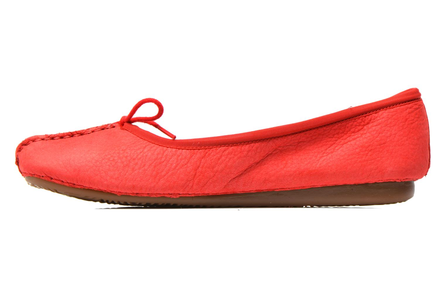 Bailarinas Clarks Unstructured Freckle Ice Rojo vista de frente