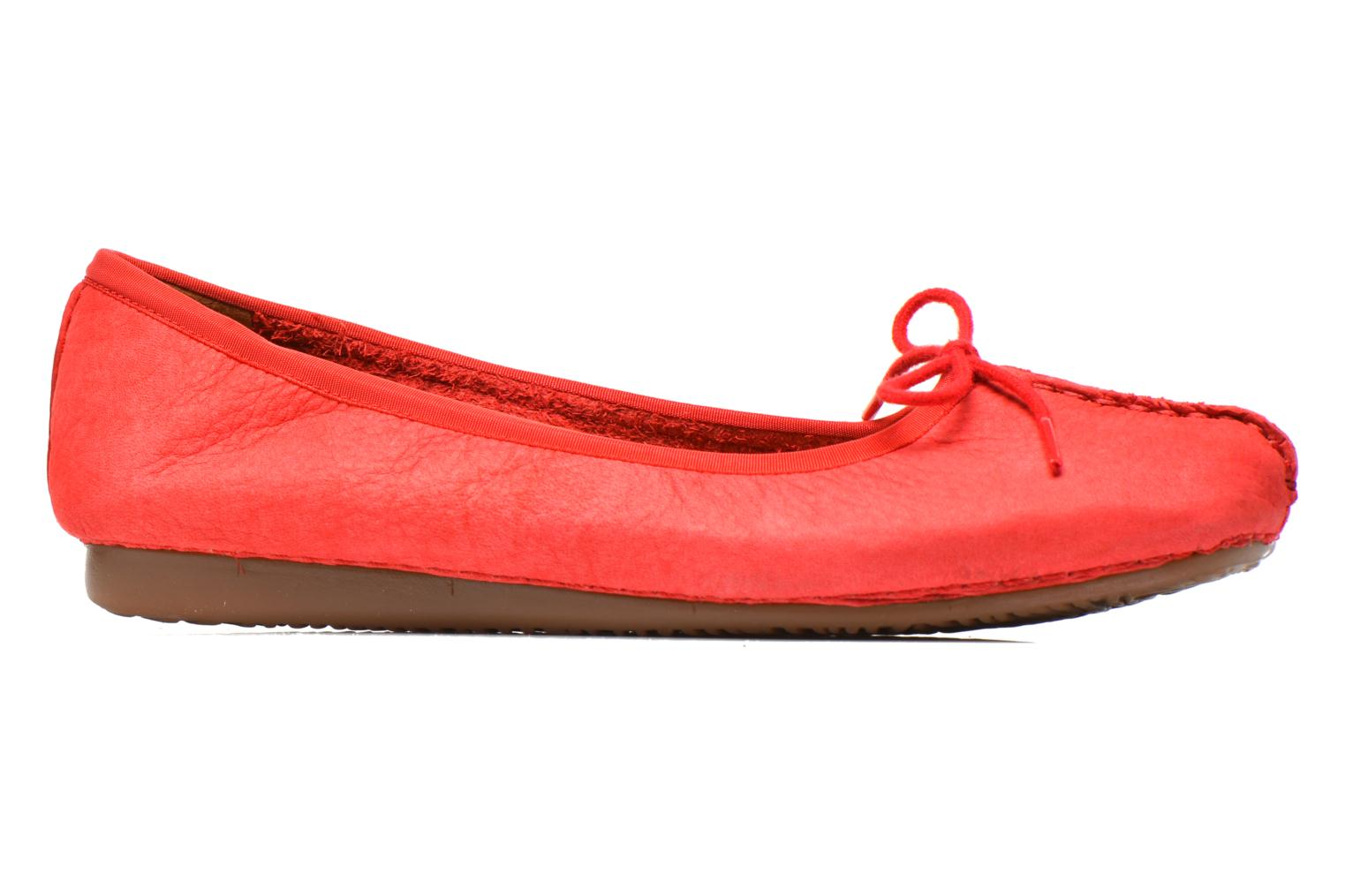 Ballet pumps Clarks Unstructured Freckle Ice Red back view