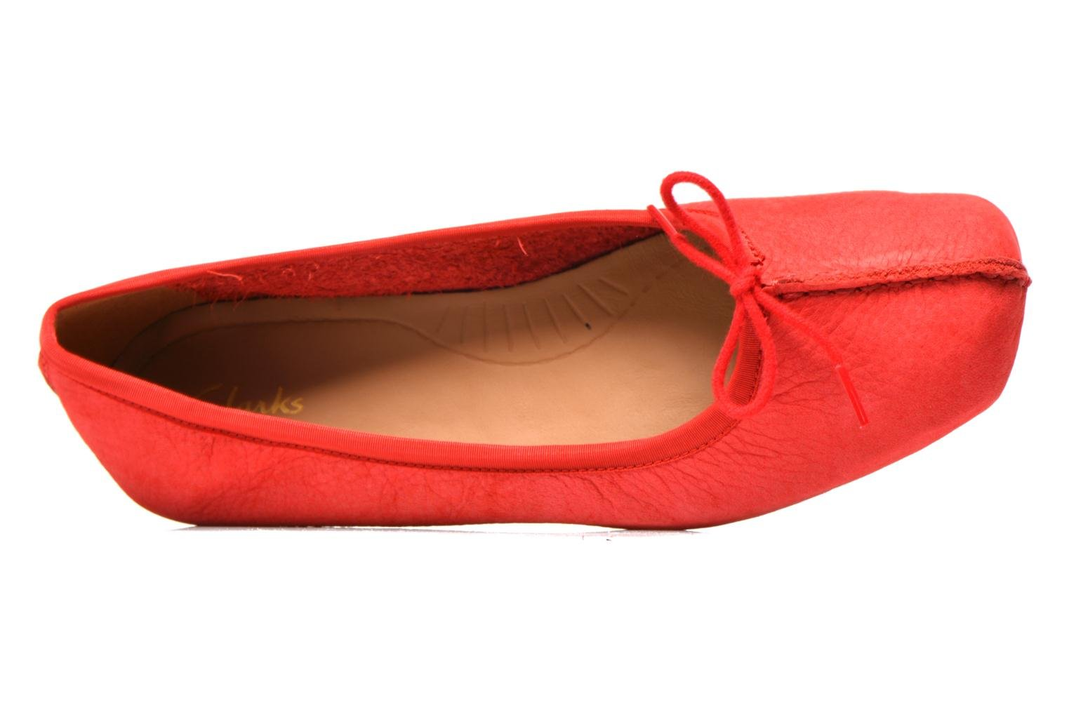 Ballet pumps Clarks Unstructured Freckle Ice Red view from the left