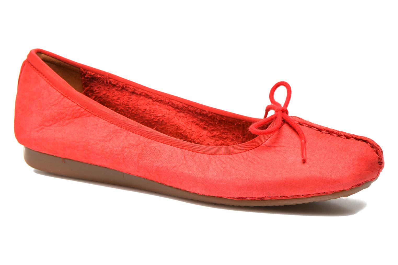 Bailarinas Clarks Unstructured Freckle Ice Rojo vista de detalle / par