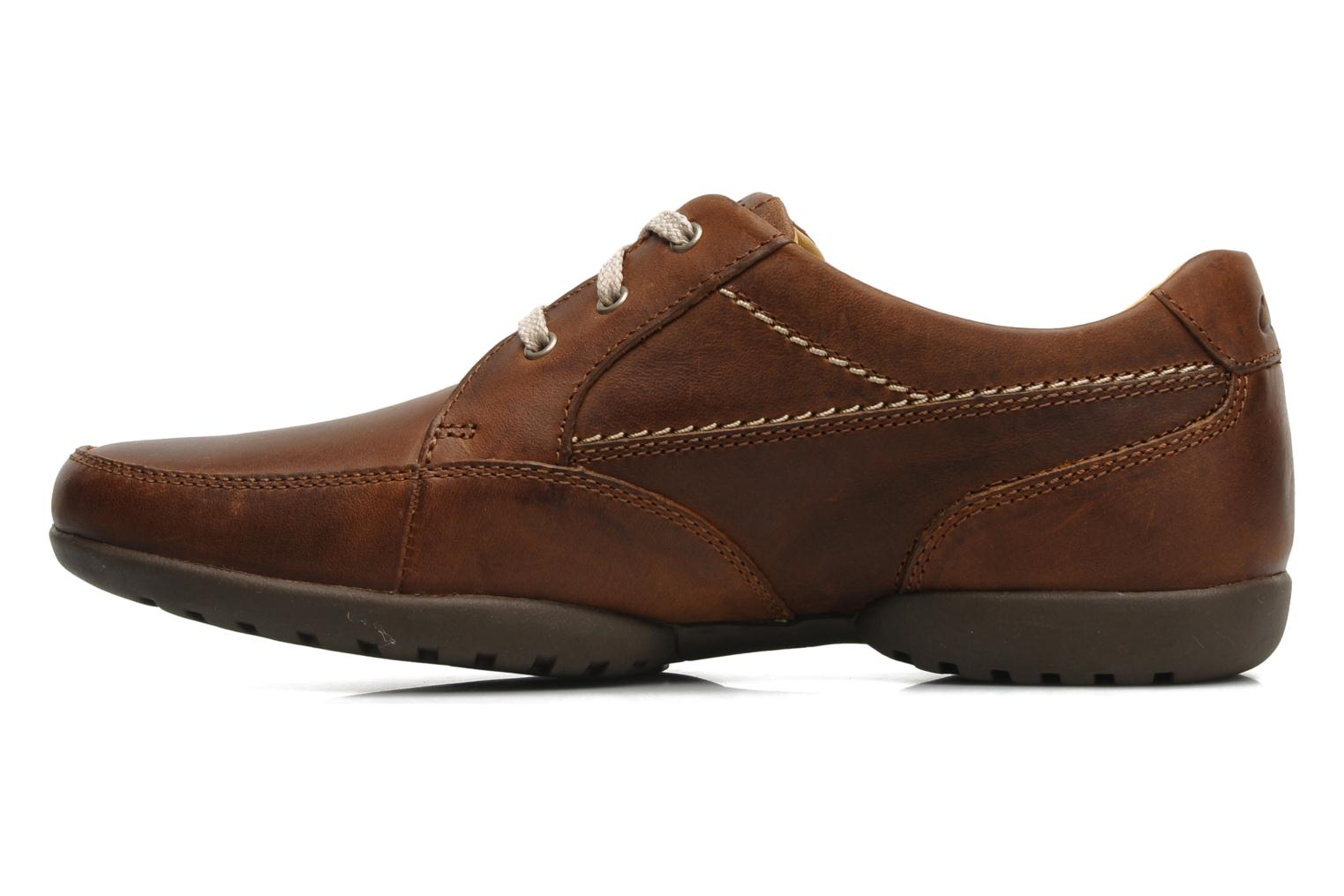 Chaussures à lacets Clarks Recline Out Marron vue face