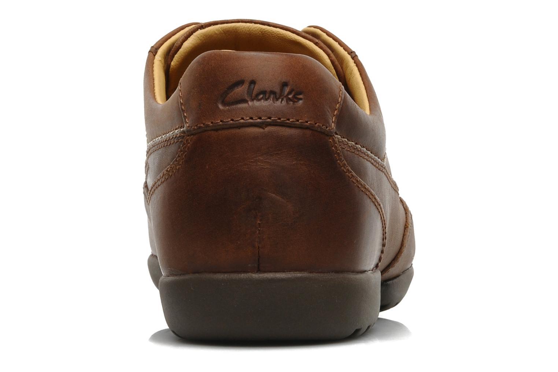 Snörade skor Clarks Recline Out Brun Bild från höger sidan