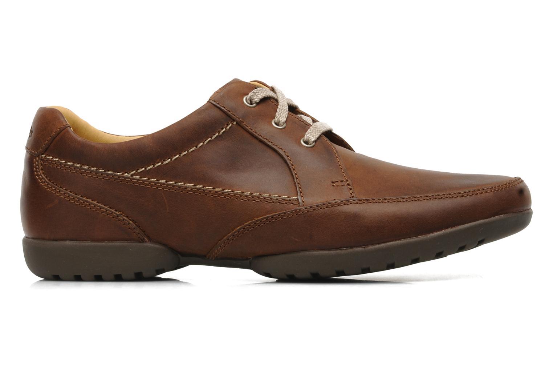 Snörade skor Clarks Recline Out Brun bild från baksidan